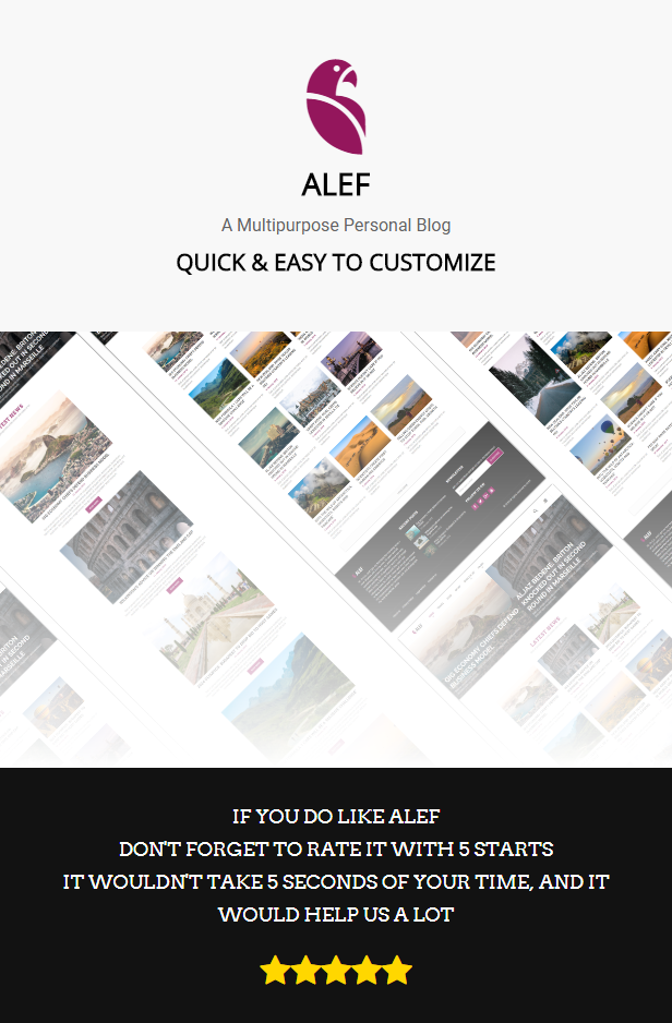 ALEF - Multipurpose Personal Blog Template - 1
